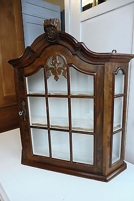 Wall Cabinet Cupboard Hanging Cabinet Dutch Wall Cabinet in Nutwood Vintage