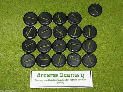 30mm Round bases slotted with lip Warmachine Warhammer