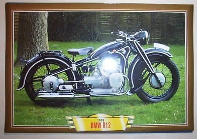 Bmw  R12 750 Vintage Classic Motorcycle Bike 1930's Picture Print 1936