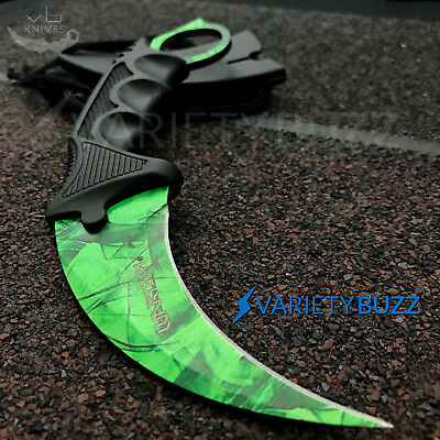 TACTICAL COMBAT KARAMBIT NECK KNIFE Survival Hunting Fixed Blade GAMMA CSGO FADE