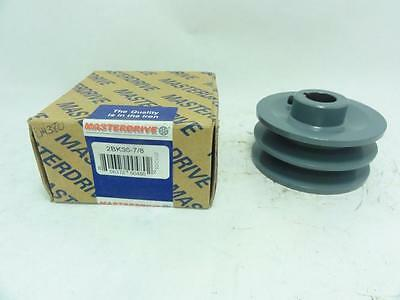 """138623 New In Box, Masterdrive 2BK36-7/8 Pulley 2 Groove 7/8"""" ID, 3.75""""OD"""