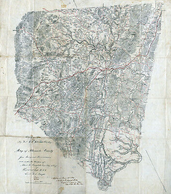 1864 Map of Albemarle County Virginia