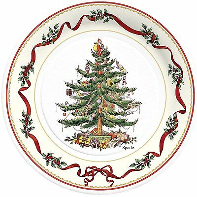 C.R. Gibson Paper Lunch Plates, Christmas Holly & Ribbon, Set of 2 (TW9-12001)