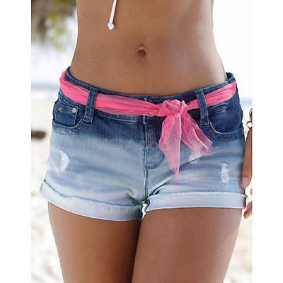 Sexy Women Ladies Summer Ripped Womens High Waisted Denim Shorts Jeans Hot Pants