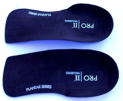 Orthotic 3/4 slim fit Insoles Arch Support Heel Plantar Fasciitis Orthopedic UK