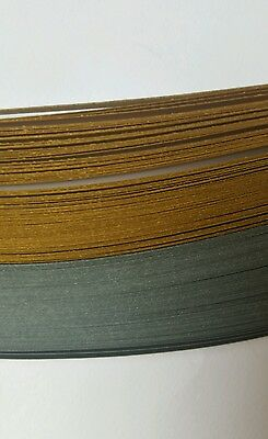 150 quilling paper strips in pearlescent silver and gold - 5mm  wide