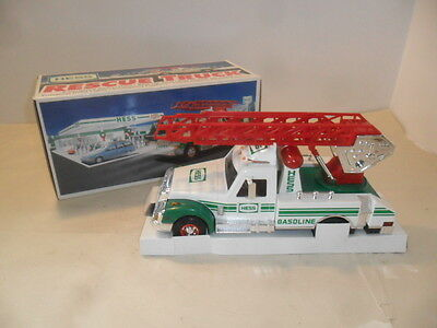 Hess Truck 1994 Rescue Toy Truck with Extention Ladder  Lights and Sounds
