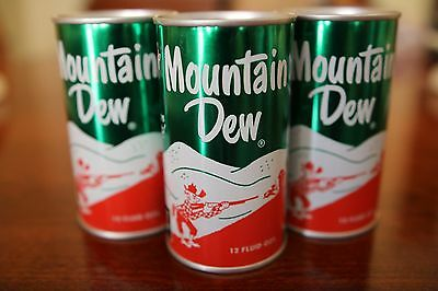 Rare Mountain Dew 1960's Can Banks 3-Pack