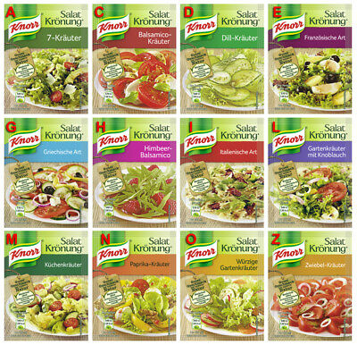 Salat Kronung Salad Herbs from Knorr Germany 12 diff. flavors, TRY OUT OFFER