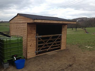 mobile field shelter 12x12 T&G shiplap with gate Made To Order Any Size