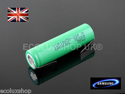 SAMSUNG ICR 18650 22F Li-Ion 2200mAh Li-Ion 3.7v Rechargeable Battery TABs TAGs
