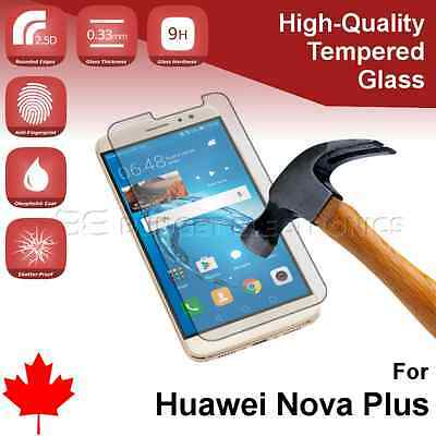 Huawei Nova Plus Premium Clear Tempered Glass Screen Protector from Canada