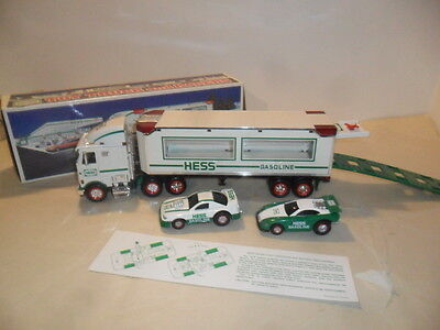 Hess Truck 1997 Toy Truck and Friction Racers W/ Lights