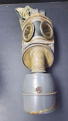 WWII French Gas Mask With Filter