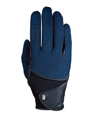 Roeckl Madison (Ascot) Horse Riding Gloves - Navy Blue