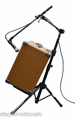 Onstage Rs7500 Tiltback Tripod Amplifier Stand And Posi-Lok Combo Boom Arm -New
