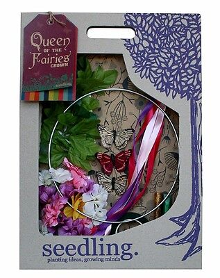 Brand New Seedling Toys Queen Of Th Fairies Crown Children's Craft Kit Flowers
