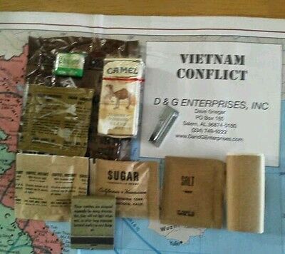 Military Vietnam USArmy USMC C-Ration C-Rations - ONE Accessory w Free P38;..
