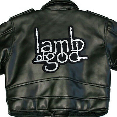 Lamb Of God X-Large Back Sew On Patch Black White Logo New Rare