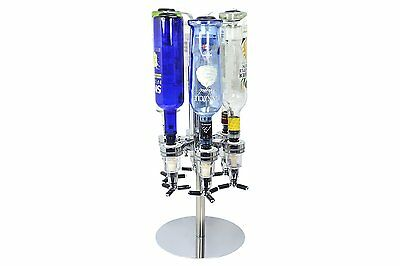 Revolving Alcohol Caddy, 6 Bottle Liquor Holder Beverage Cocktail Shot Dispenser