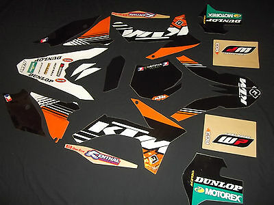 Ktm 2011-2012  Sx  Sxf Full Factory Mx Graphics Decals Kit Stickers
