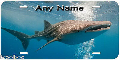 Whale Shark Personalized Novelty Aluminum Car License Plate P01