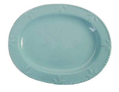"Signature Housewares Sorrento 14"" Oval Platter, Aqua (70750)"