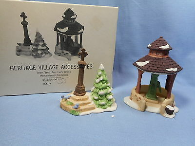 Dept 56 Heritage Village  Town Well & Holy Cross   #6547-1