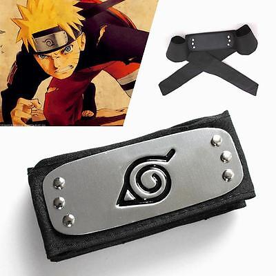 Fashion Headband Leaf Village Logo Kakashi Cosplay Costume Accessory DH