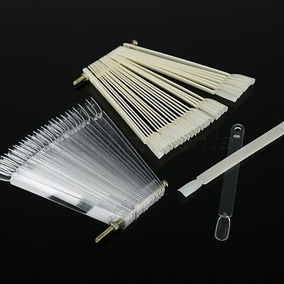 50pcs Nail Art Tips Display Fan Board False Stick Display Color Design Fashion