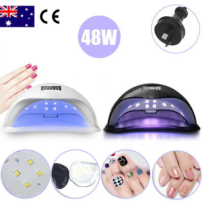 48W SUN5 LED Light Lamp UV Nail Art Dryer Curing Gel Gelish Timer Polish Nails