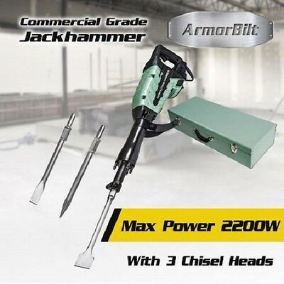 NEW 2200W Commercial Demolition Jack Hammer Electric Chisel with Case, Tool Kit