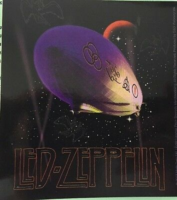"Led Zeppelin Black Zoso Symbols Logo Sticker  4.5""x5"" New"