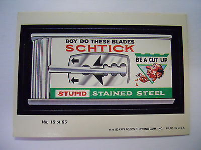 VINTAGE! 1979 Topps Wacky Packages Trading Card #15-Schtick-Schick