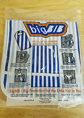 2 Adult Big Bib 17.5 x 36 Soft Cotton with Vinyl Backing Velcro or side snap