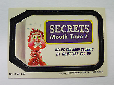VINTAGE! 1979 Topps Wacky Packages Trading Card #115-Secrets-Sucrets
