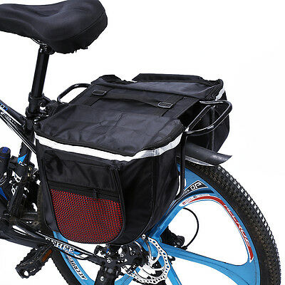 Waterproof Cycling Bicycle Bike Rear Rack Double Pannier Storage Organize Bag CL