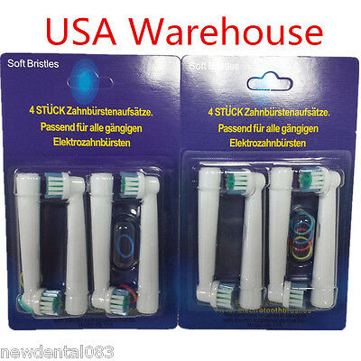 """""""USA"""" 8Pcs Electric Tooth brush Heads Replacement for Braun Oral B FLOSS ACTION"""