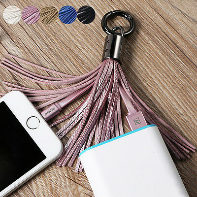Leather Tassel 8 pin USB Sync Data Charger Cable 3.0A For Apple iPhone 4 5 6 6S