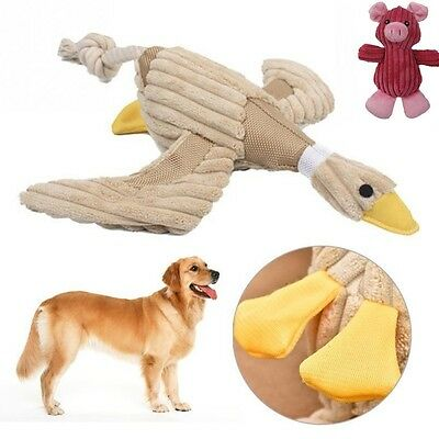 New Funny Pet Puppy Chew Squeaker Squeaky Plush Sound Duck Pig Cat Dog Play Toys
