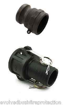 2 in 50mm Poly Camlock Fire Pump Hose Fitting Set   50CPPAC