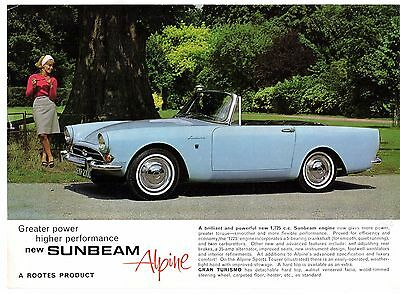 Sunbeam Alpine Series V 1725 1965-68 UK Market Leaflet Sales Brochure Tourer GT