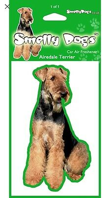 Airedale Terrier Air Freshener Tree Dog Cute Novelty Gift SALE