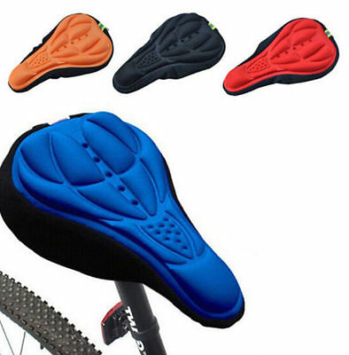 Cover 3D Pad Soft Gel Bike Saddle Cycling Bicycle Seat Silicone HOT NEW Cushion