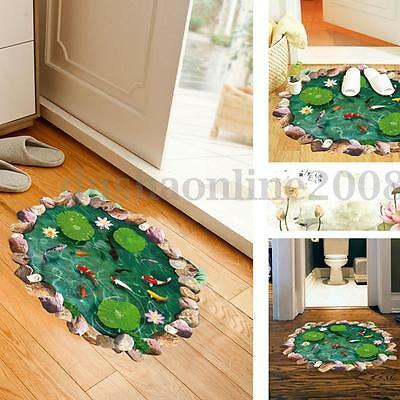 3d amovible sol autocollant mur mural d calque sticker for Decalque mural