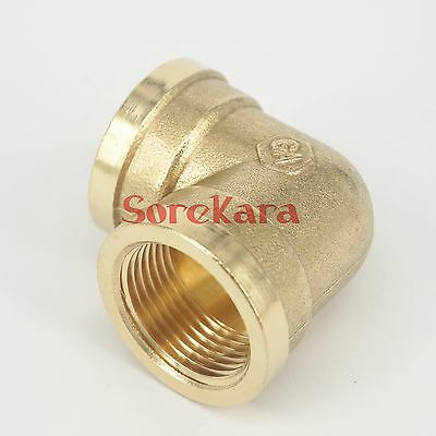 """Brass ELbow Pipe fitting Connector 3/4"""" BSP Female to 1/2"""" BSP Female"""