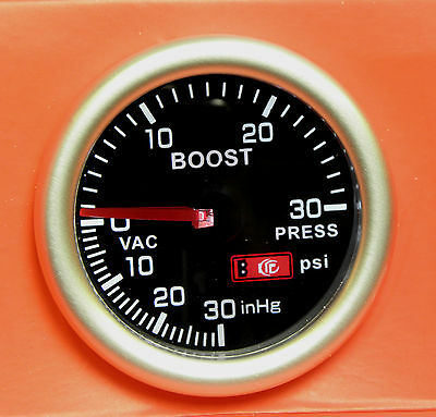 52mm Smoked Face Turbo Boost gauge psi Corsa Astra Vectra Zafira VXR GSI