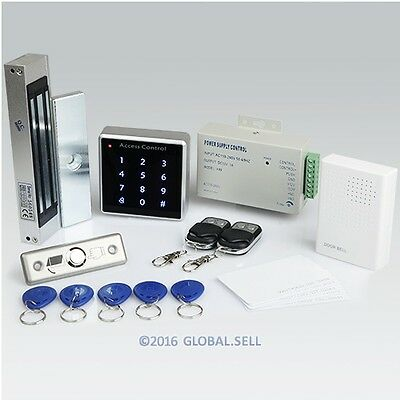 Remote Controlled RFID Door Access Control System +180kg Magnetic Lock+ Doorbell