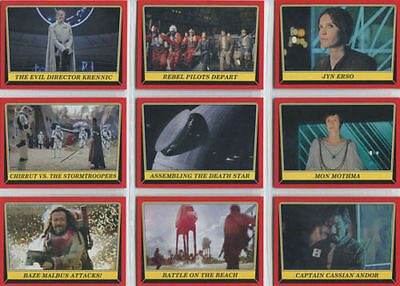 Star Wars - Rogue One Mission Briefing - Trading Card Set (110) - TOPPS 2016 -NM