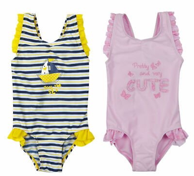Infant Baby Girls Nautical Swim Suit Swimming Costume Outfit Travel Beach 3-18m